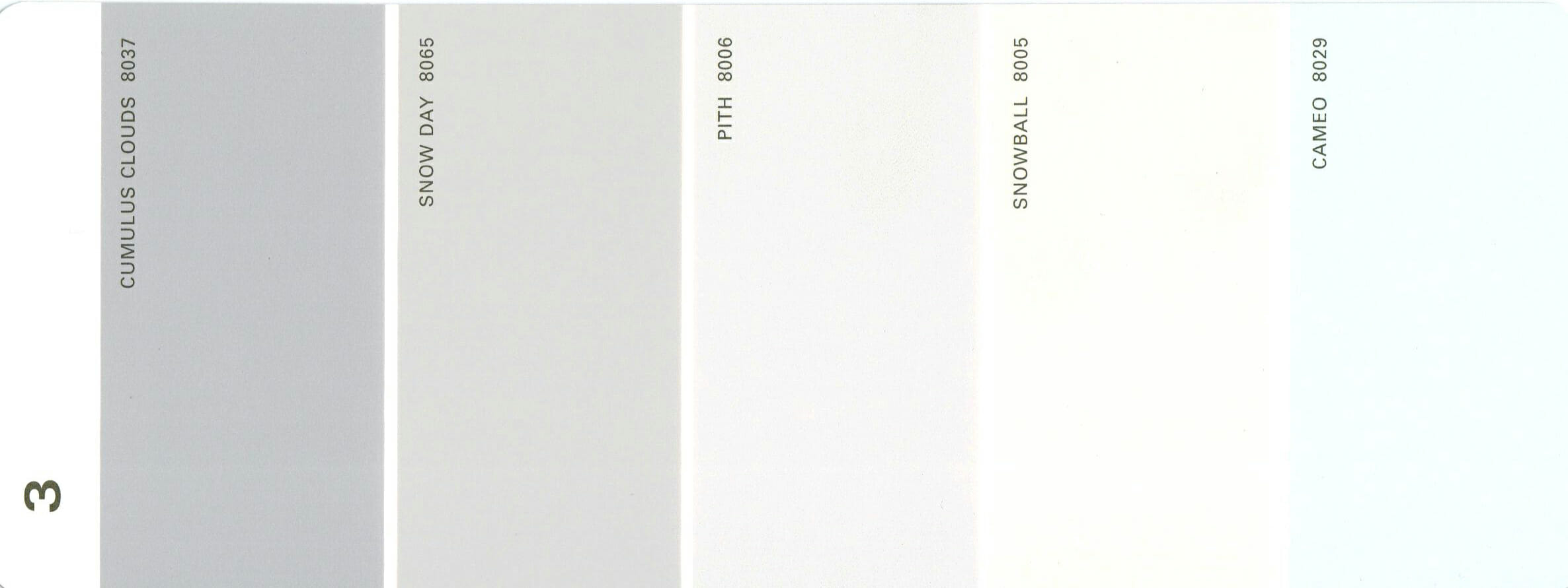Martha Stewart Paint 5-Color Palette Card #03