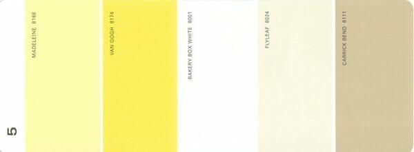 Martha Stewart Paint 5-Color Palette Card #05