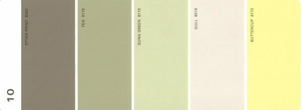 Martha Stewart Paint 5-Color Palette Card #10