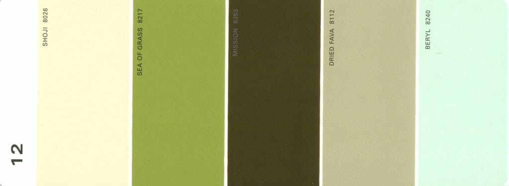 Martha Stewart Paint 5-Color Palette Card #12