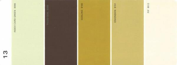 Martha Stewart Paint 5-Color Palette Card #13