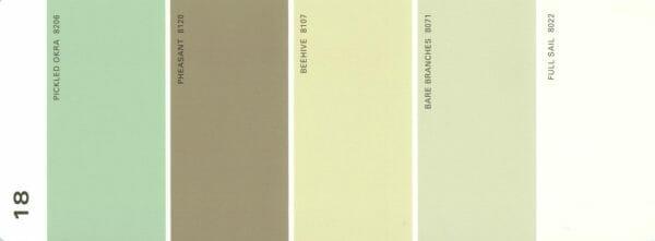 Martha Stewart Paint 5-Color Palette Card #18