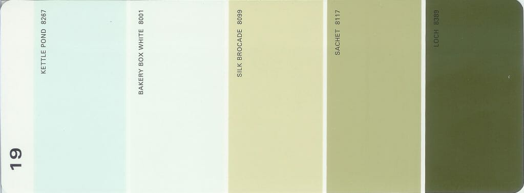 Martha Stewart Paint 5-Color Palette Card #19