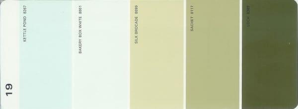 Martha Stewart Paint 5-Color Palette Card #19