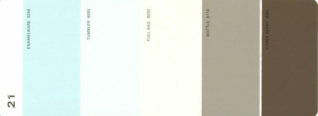 Martha Stewart Paint 5-Color Palette Card #21