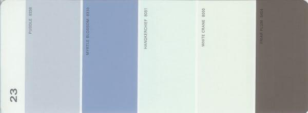 Martha Stewart Paint 5-Color Palette Card #23
