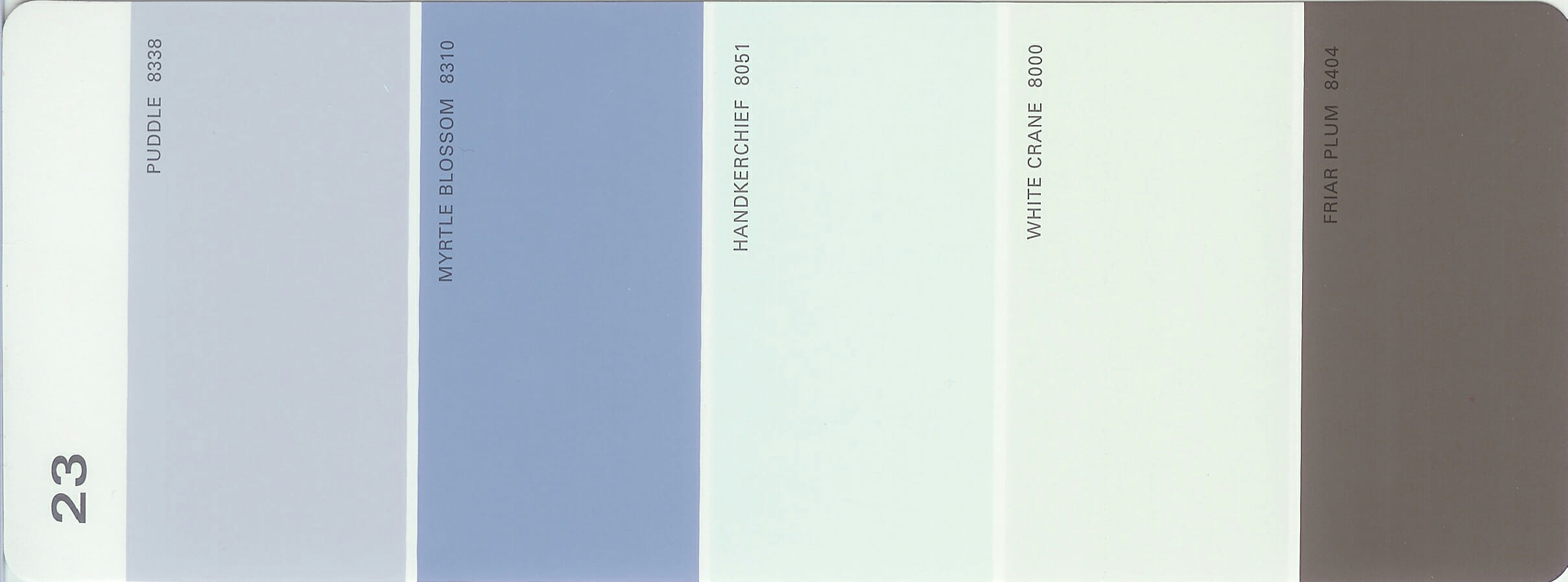 Martha Stewart Paint 5-Color Palette Card #23