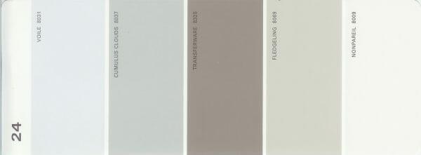 Martha Stewart Paint 5-Color Palette Card #24