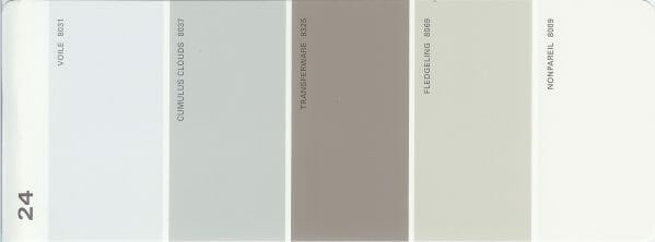 Martha Stewart Paint 5-Color Palette Card #24