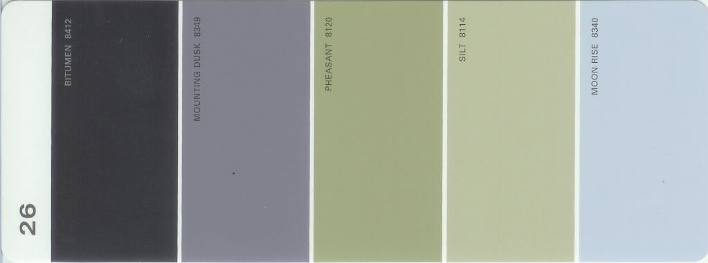 Martha Stewart Paint 5-Color Palette Card #26
