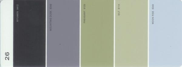 Martha Stewart Paint 5-Color Palette Card #26