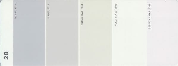 Martha Stewart Paint 5-Color Palette Card #28