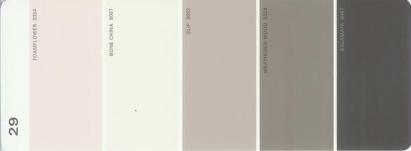 Martha Stewart Paint 5-Color Palette Card #29