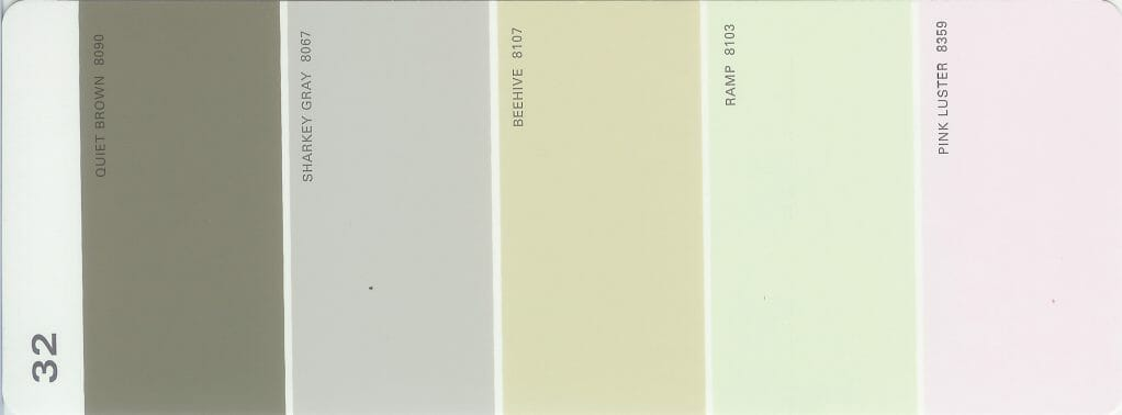 Martha Stewart Paint 5-Color Palette Card #32