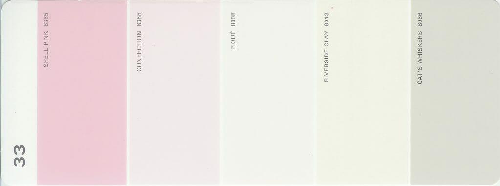 Martha Stewart Paint 5-Color Palette Card #33
