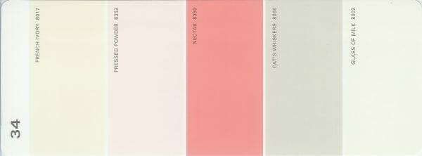Martha Stewart Paint 5-Color Palette Card #34