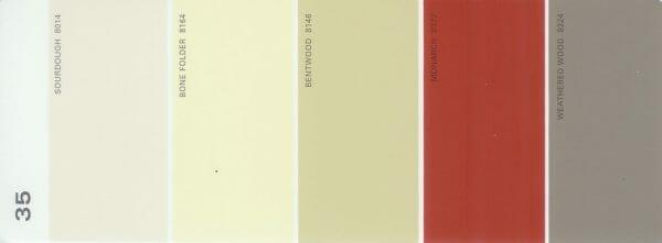 Martha Stewart Paint 5-Color Palette Card #35