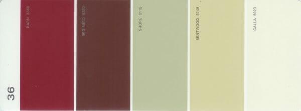 Martha Stewart Paint 5-Color Palette Card #36