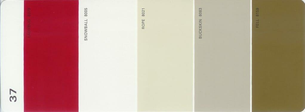 Martha Stewart Paint 5-Color Palette Card #37