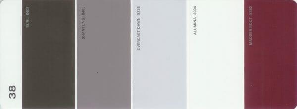 Martha Stewart Paint 5-Color Palette Card #38