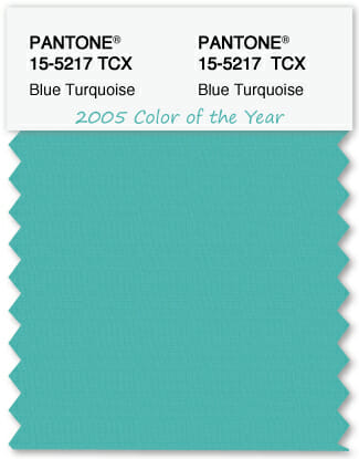 Color Swatch Pantone color of the year 2005 Blue Turquoise