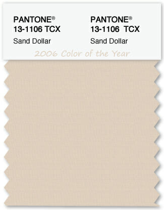 Color Swatch Pantone color of the year 2006 Sand Dollar