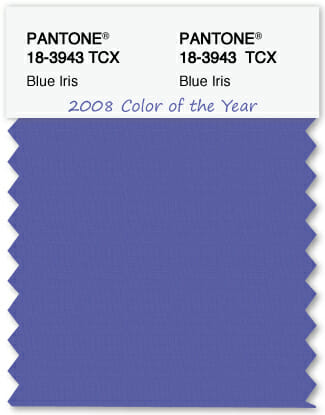 Color Swatch Pantone color of the year 2008 Blue Iris