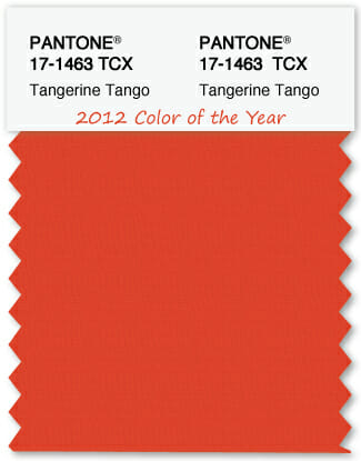 Color Swatch Pantone color of the year 2012 Tangerine Tango