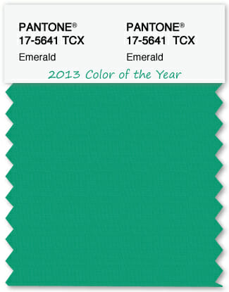 Color Swatch Pantone color of the year 2013 Emerald