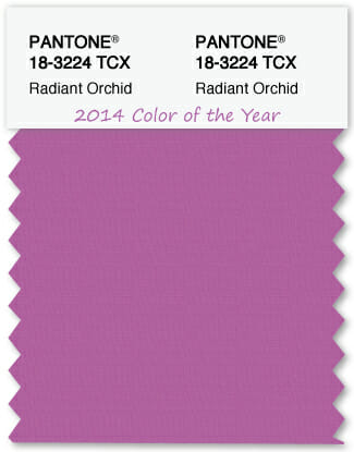 Color Swatch Pantone color of the year 2014 Radiant Orchid