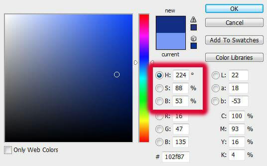 hue saturation brightness