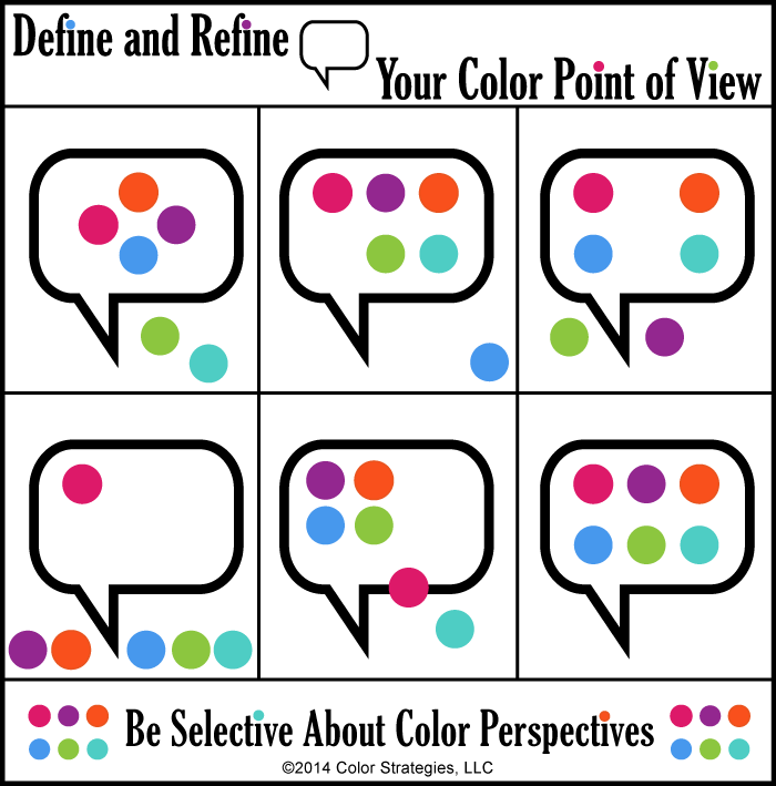color point of view infographic