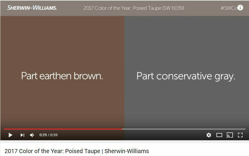 Taupe Is The Sherwin Williams Color Of The Year 2017 But What Is Taupe