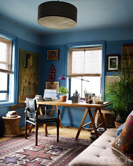 Blue Office from Elle Decor