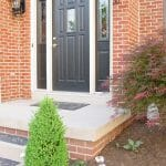 Front-Porch-black door sherwin williams tricorn black