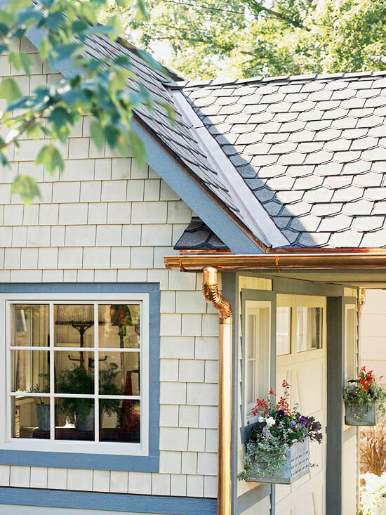 Copper Gutter and Downspout colors
