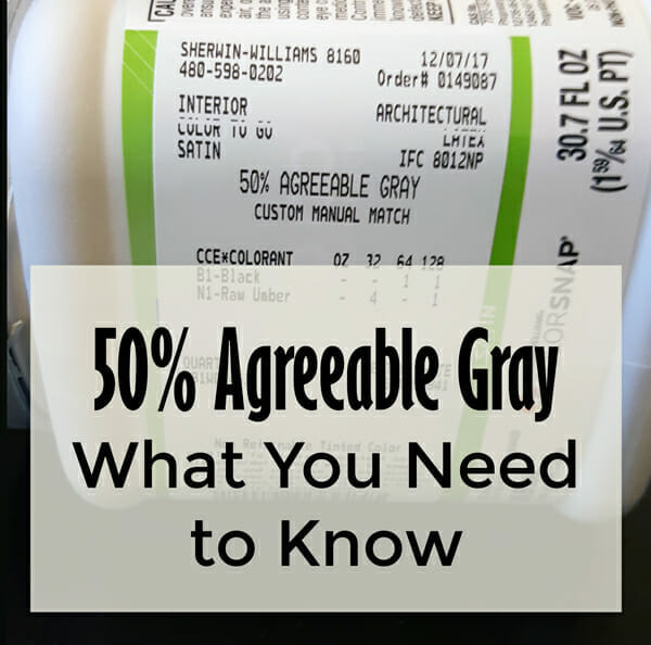 Agreeable Gray Paint Color Formula 50%