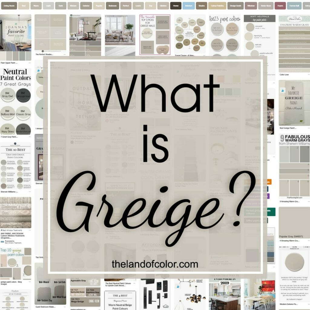 What is greige?