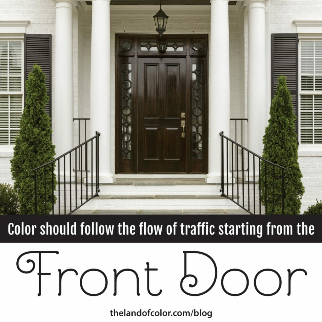 Flow-of-Color-Start at the Front-Door