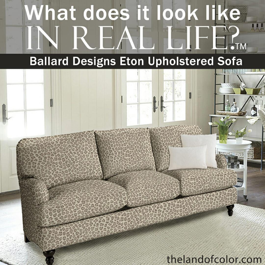 Eton Sofa from Ballard Cheetah Taupe